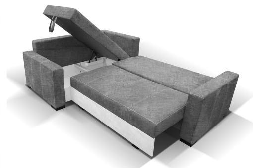 Cama y arcón abiertos de sofá rinconera pequeño modelo Brighton
