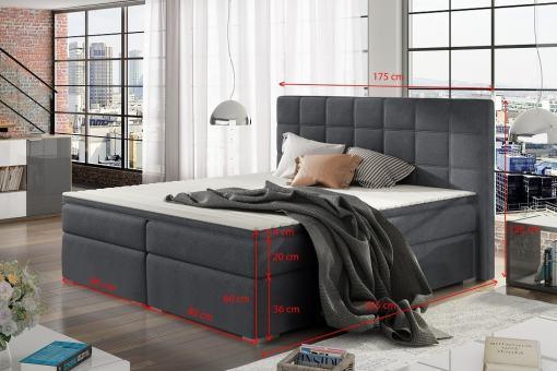 Размеры двуспальной кровати 160 x 200 см - Isabella