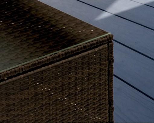 Vidrio templado de la mesa del conjunto jardín modelo Mayo
