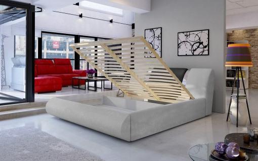 Arcón y somier de laminas . Canapé 180 x 200 abatible moderno - Charlotte