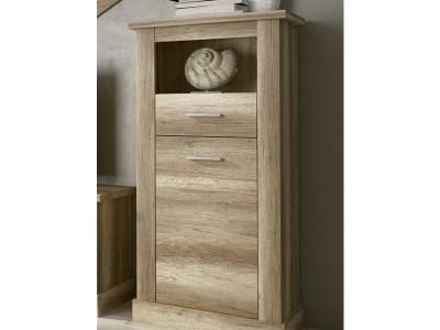 Bodeguero efecto madera, de una puerta, un cajón y un hueco - modelo Alabama