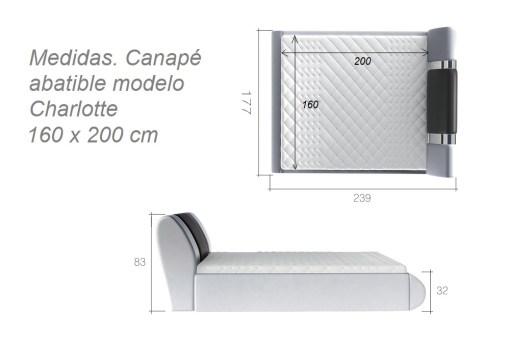 Размеры двуспальной кровати 160 x 200 см - Charlotte