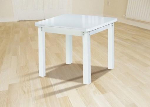 """Квадратный стол """"книжка"""" 90 x 90 см, раздвижной до 180 см - Vejle. Белый цвет"""