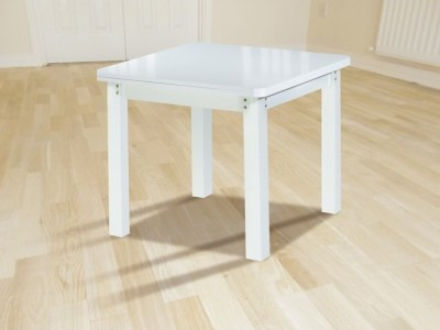 Square Dining Table 90 x 90 cm, Extending to 180 cm - Vejle. White Colour