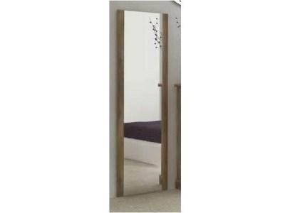 Espejo de pared vertical grande, acabado efecto madera, alto 180 cm - Alabama