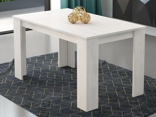 Mesa de comedor rectangular fija 140 x 80 cm, color gris claro - Manresa