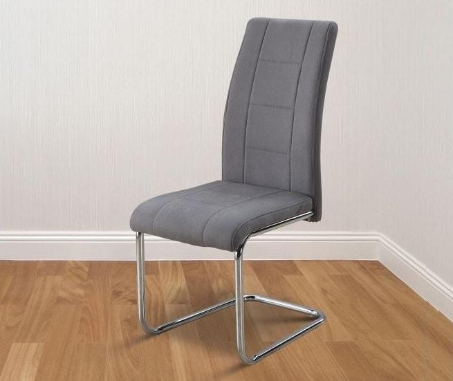 Silla de comedor moderna tapizada en tela (gris o beige) - Aspe - Don  Baraton: tienda de sofás, colchones y muebles