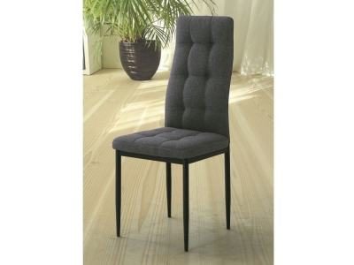 Dining Chair Upholstered in Grey Fabric - Benissa