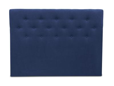Double Bed Headboard, 160 x 120, Upholstered in Fabric with Buttons - Dream. Dark Blue Colour