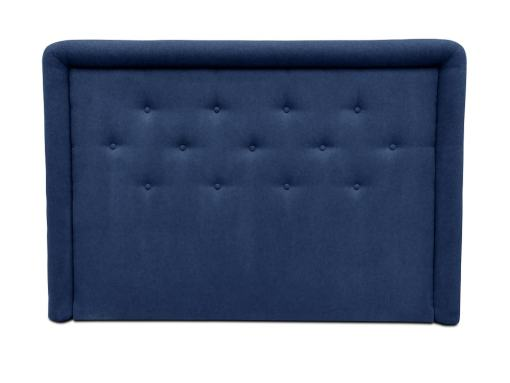 Headboard Upholstered in Fabric with Buttons, 170 x 120 cm - Good Night. Dark Blue Colour