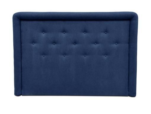 Cabecero de cama tapizado con botones, 170 x 120 cm - Good Night. Azul oscuro