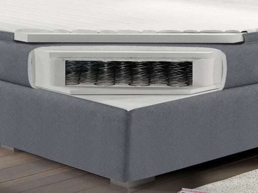 Colchón de muelles bonell 160 x 200 cm y topper de la cama doble box spring modelo Luisa