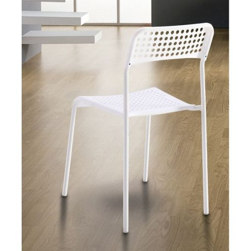 Backrest of the Inexpensive Kitchen Chair in Steel and Plastic - Parla