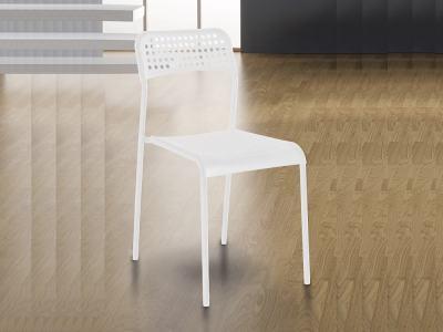 Недорогой белый кухонный стол из стали и пластика - Parla
