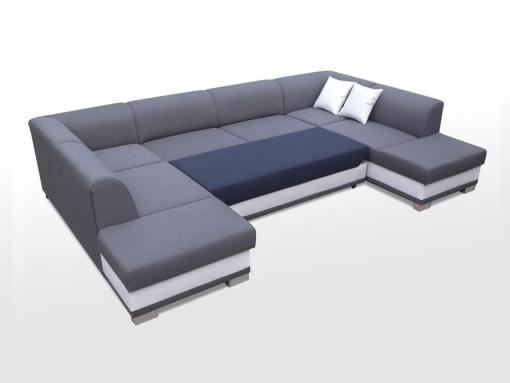 Cama abierta. Sofa esquinero en forma de U con cama y 2 arcones - Azores