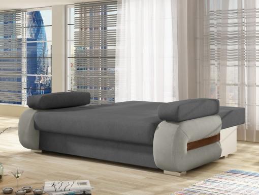Modo cama. Sofá cama pequeño moderno con cojines laterales modelo Cambridge