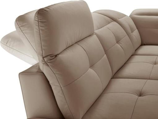 Reposacabezas reclinables del sofá rinconera moderno de piel auténtica - modelo New York