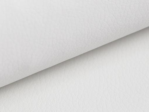 Piel sintética de color blanco, sofá modelo Reims