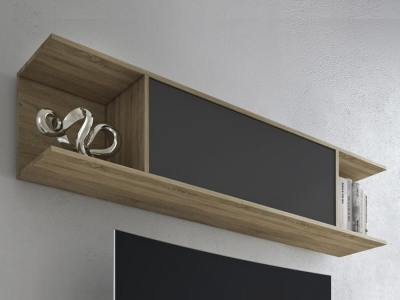 Modern wall mounted storage cabinet, 160 cm - Lucca