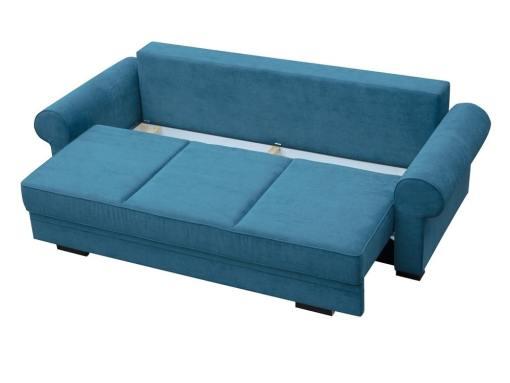 Arcón bajo asiento. Sofá cama grande estilo clásico con arcón modelo Lancaster