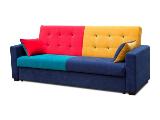 Sofá cama tapizado en tela de cuatro colores - Art
