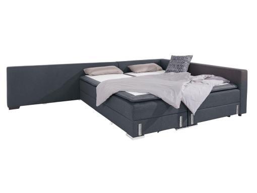 Modo cama. Sofá rinconera grande convertible en cama boxspring 180 x 200 cm - Atlanta