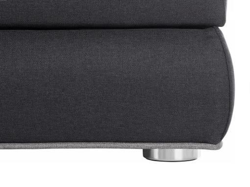 Pata y tela cerca. Cama con colchón de muelles ensacados, arcón, luces LED, 180 x 200 cm - Martina