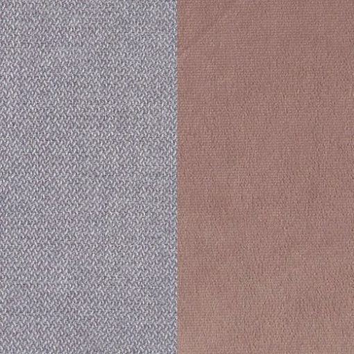 Grey and pink fabrics of the Angelina bed