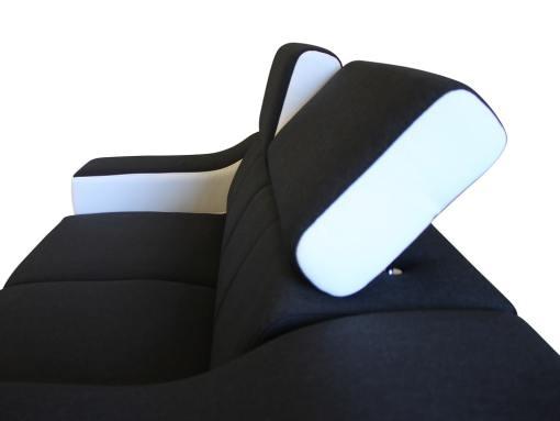 Reposacabezas reclinables del sofá dos plazas modelo Grenoble