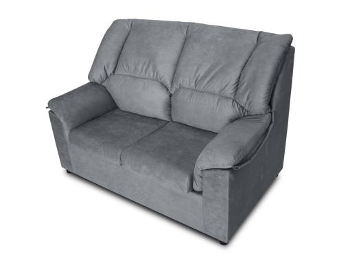 Small inexpensive 2-seater sofa - Nimes. Grey stain-resistant fabric