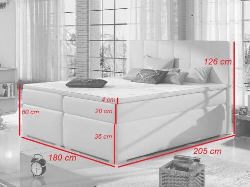 Medidas de la cama 180 x 200 cm, modelo Monica