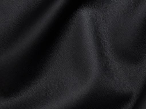 Piel sintética, color negro del sofá chaise longue modelo Richmond