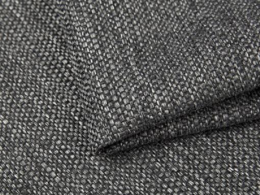 Tela imitación lino, color gris del sofá chaise longue grande modelo Vernon