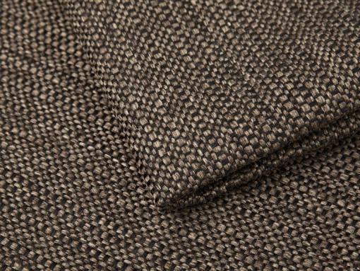 Tela imitación lino, color marrón del sofá chaise longue modelo Richmond