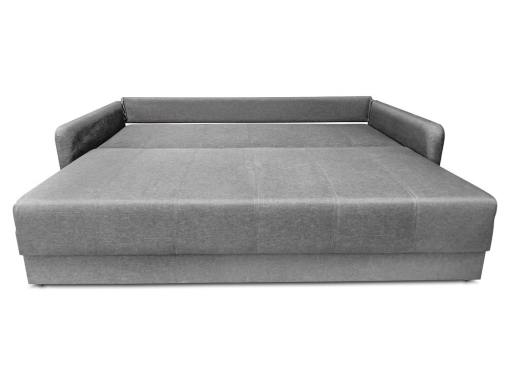 Sofa Bruges unfolded into bed. Grey fabric