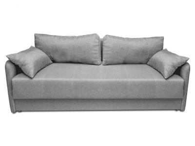 3 seater sofa bed with narrow armrests - Bruges. Grey fabric