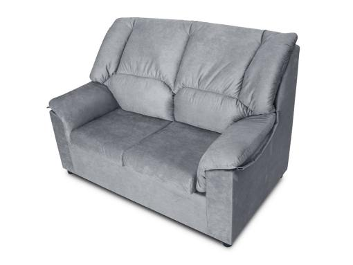 Small inexpensive 2-seater sofa - Nimes. Light grey stain-resistant fabric