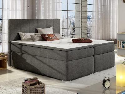 Кровать 160 x 200 см, с отделениями для хранения - Monica. Серая