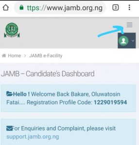 How To Check  Admission Status on jamb CAPS