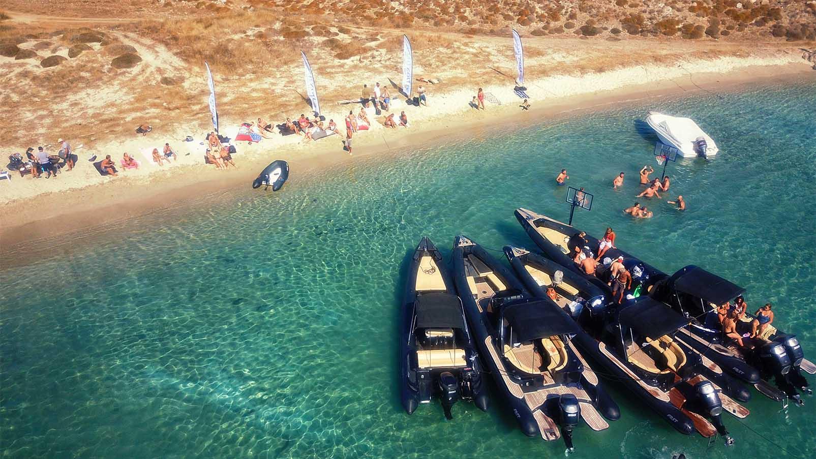 Mykonos - Paros - Private day cruise | Don Blue RIB boat rental
