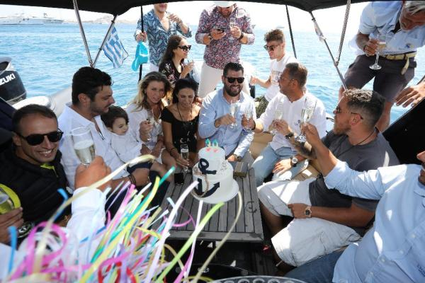 Private Boat Party for Birthday & Bachelor in Mykonos - Don Blue Yachting