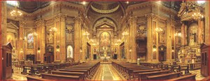 The Basilica of Mary Help of Christians at Valdocco, the Oratory of St. Francis de Sales, in Torino, Italy
