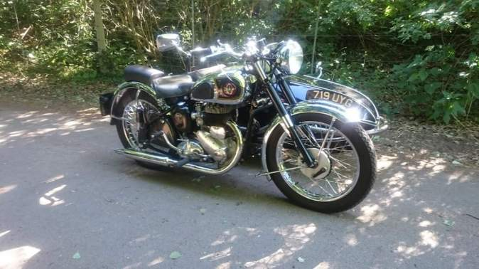 BSA M21 with watsonian gp sidecar