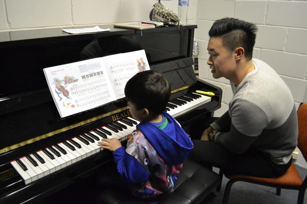 Piano Lesson in Progress