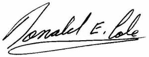 Signature - Donald E. Cole