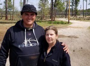 Farmer and Wife on Farm