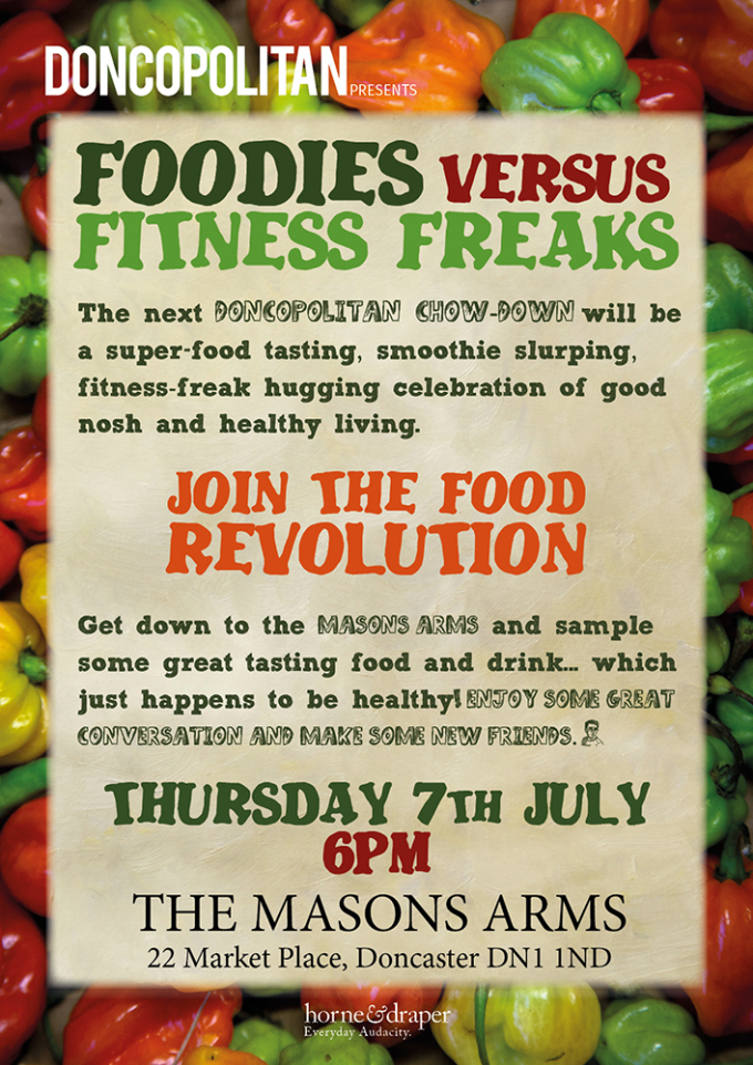 Foodies Vs Fitness Freaks at the Mason's Arms….