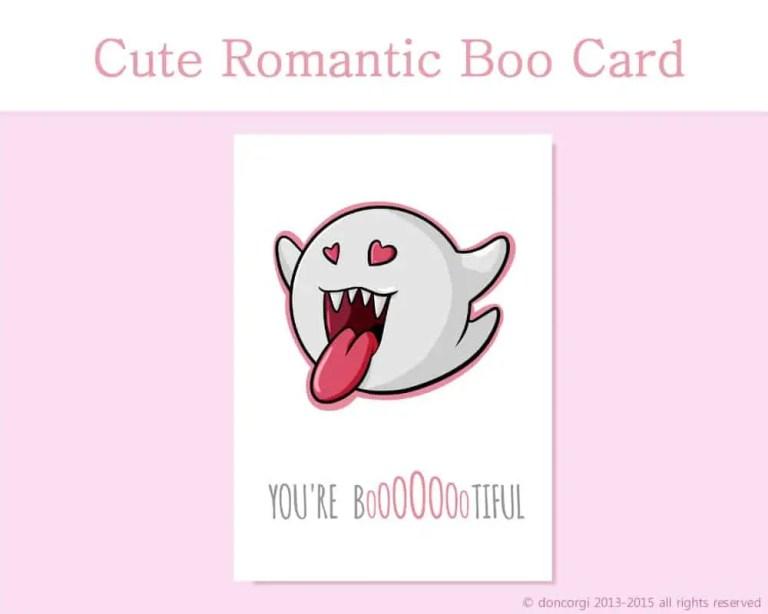 super mario Valentine's Day Card