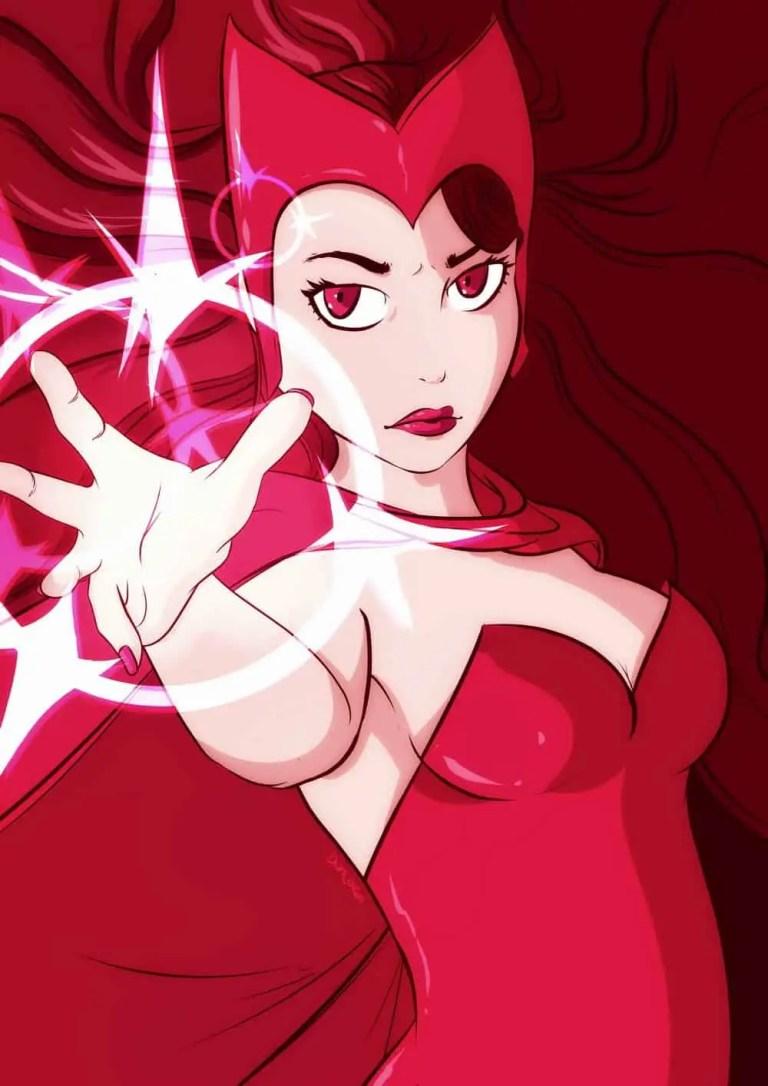 scarlet witch, marvel fan art, xmen, avengers, age of ultron, comics,