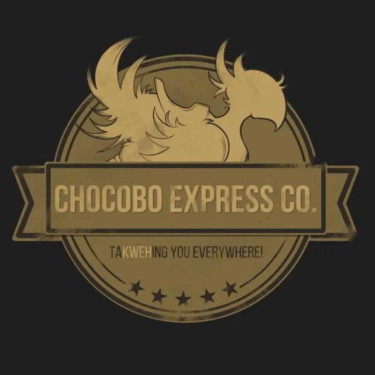 chocobo, final fantasy, chocobo express, cute, logo, fan art,